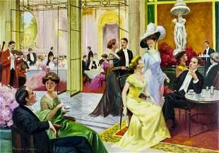 Raimond Frances (US,France,20C) oil painting