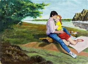 Marvin Warren (US,20C) oil painting
