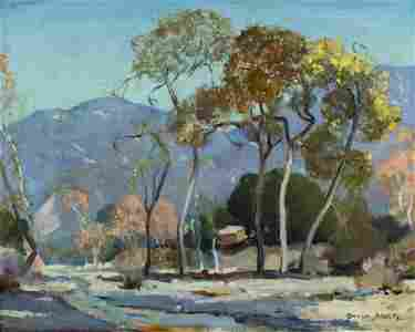 Orrin White (CA,IL,1883-1969) oil painting