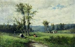 Joseph Hekking (Dutch,NY,MI,1830-1903) oil painting