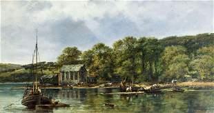 Frederick Waters Watts (UK,1800-1862) oil painting