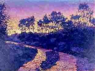 Tim Saska (TX,1935-2006) acrylic painting