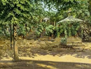 Svend Ronne (Denmark,1868-1938) oil painting antique