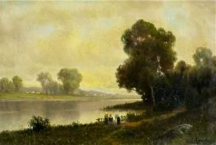 Kanute Felix (NJ,FL,Sweden,1852-1935) oil painting