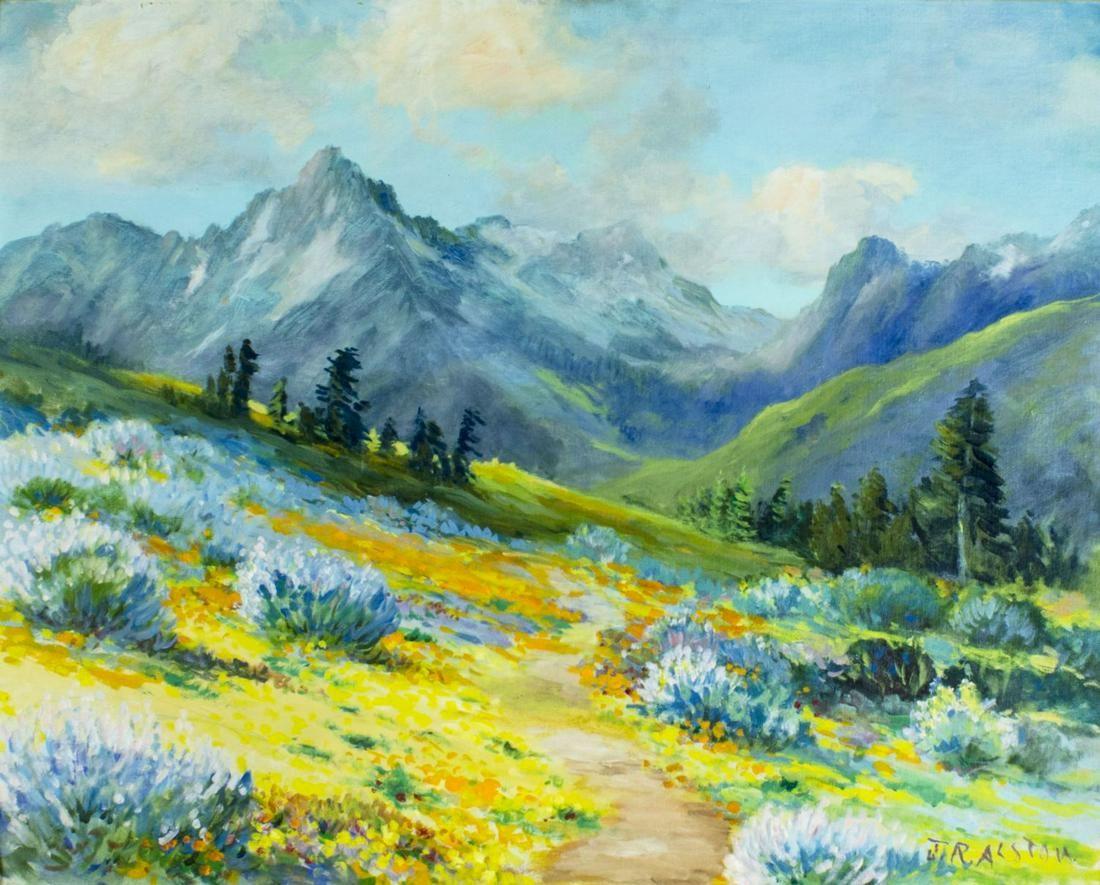John R Alston (CA,mid 20C) oil painting
