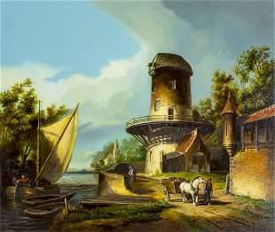 Theo Reijmers (Dutch,20C) oil painting