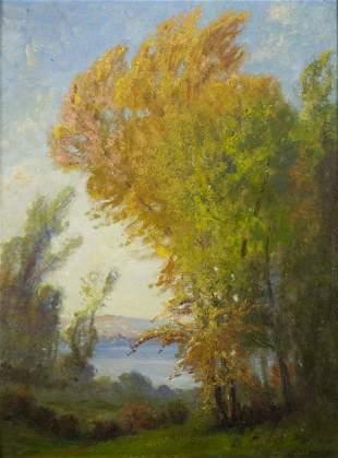 Manchus Carlton Loomis (IL,CA,1861-1938) oil painting