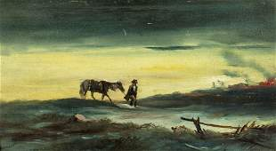 Garnier (France,19/20C) oil painting antique