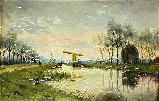 Jan Wijsmuller (Dutch,1855-1925) oil painting antique