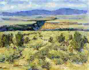 Hopkins (NM,20C) oil painting