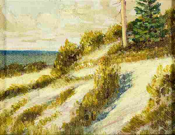 Glenn Bastian (IN,OH,1890-1966) oil painting