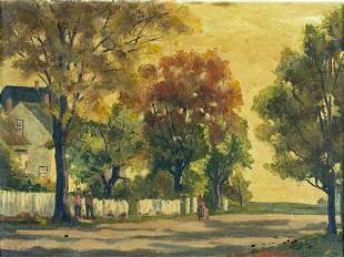 P G Eaton (US,early 20C) oil painting
