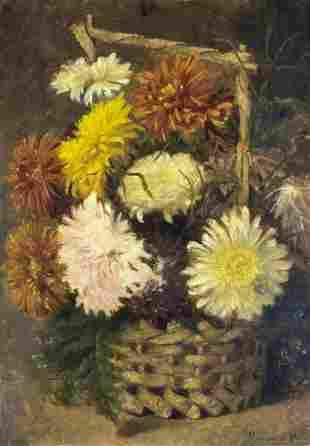 Helen Augusta Hamburger (Dutch,UK,1836-1919) oil