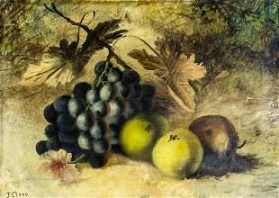Joseph Clare (US,1846-1917) oil painting antique