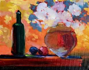 Pat Woodall (NM,b 1956) oil painting
