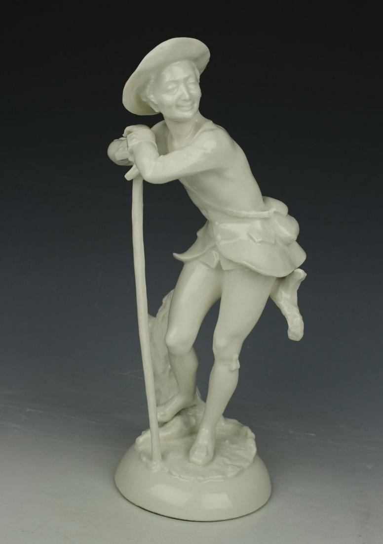 """Hutschenreuther Figurine """"Man with Walking Stick"""""""