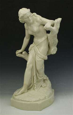 "19C Royal Worcester figurine 486 ""Surprised Bather"""