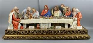 """33"""" Capodimonte Cortese Figurine """"Last Supper"""""""