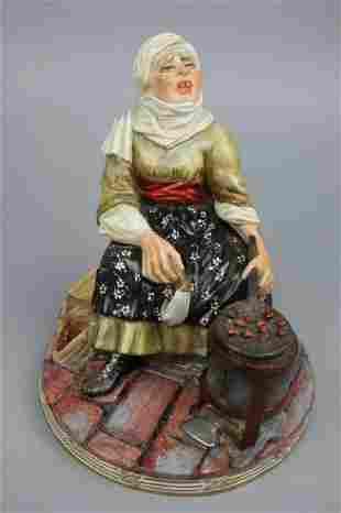 """Capodimonte Luigi Fabris Figurine """"Chestnut Seller"""""""
