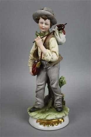 "Capodimonte Bruno Merli Figurine ""The Wanderer"""