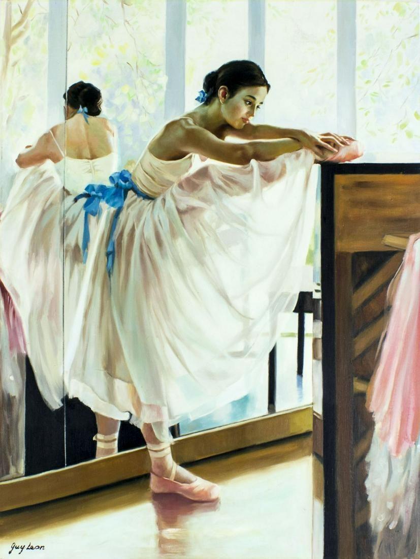 Guy Leon (US,20C) oil painting