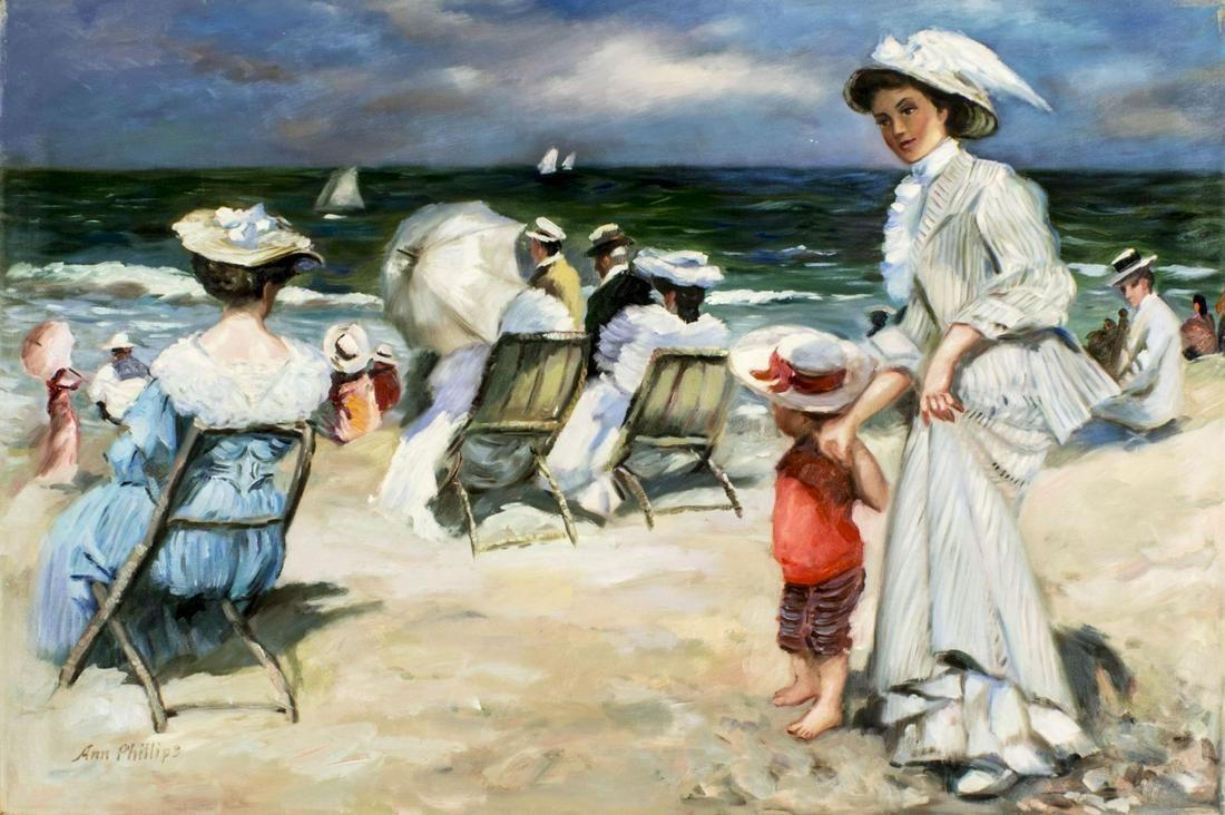 Ann Phillips (US,20C) oil painting