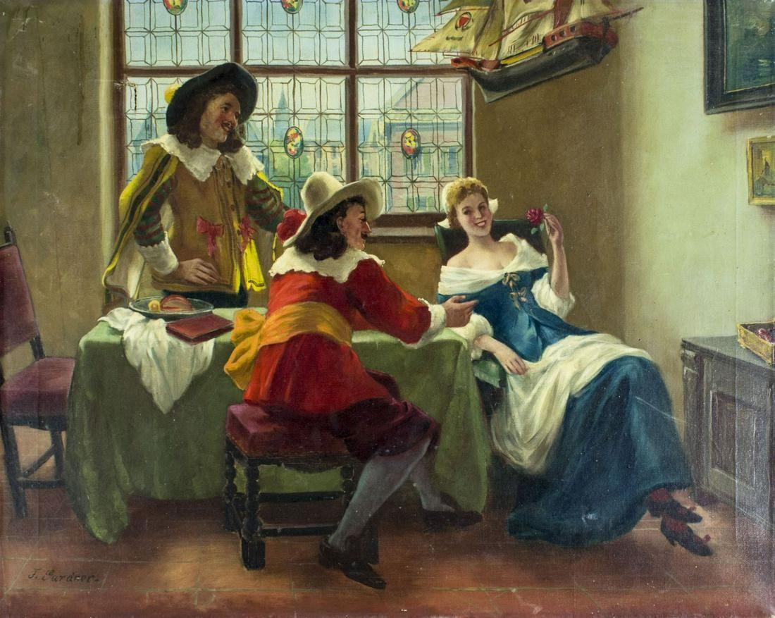 F Gardner (US,20C) oil painting