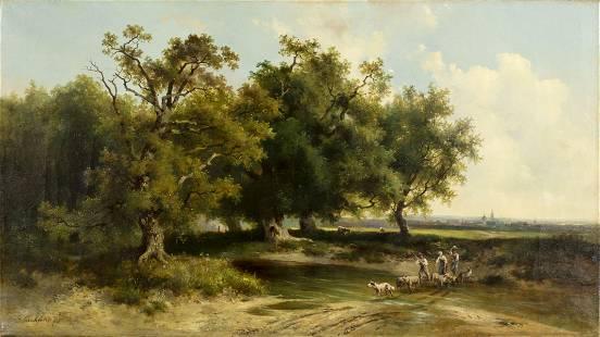 Dominik Schufried (austrian,1810-1888) oil painting