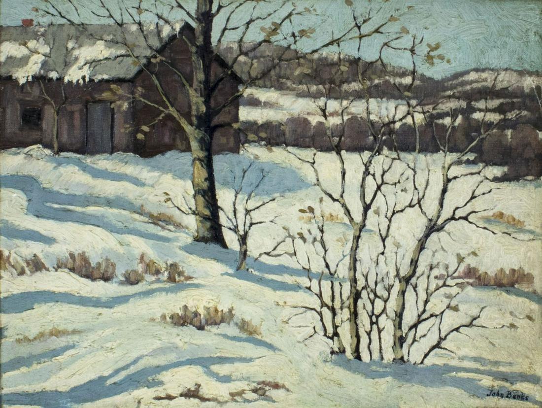 John Banks (US,mid 20C) oil painting