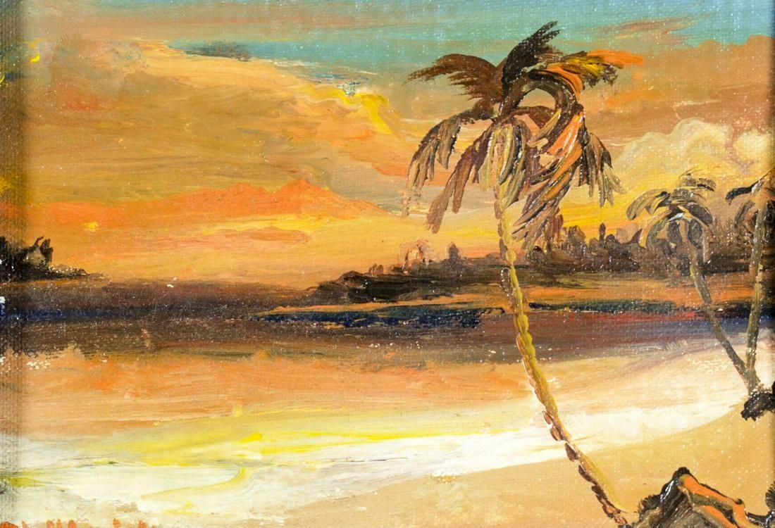 Phil Brisk (US,20C) oil painting