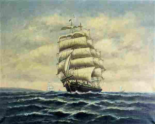 Wesley Warren (US,20C) oil painting