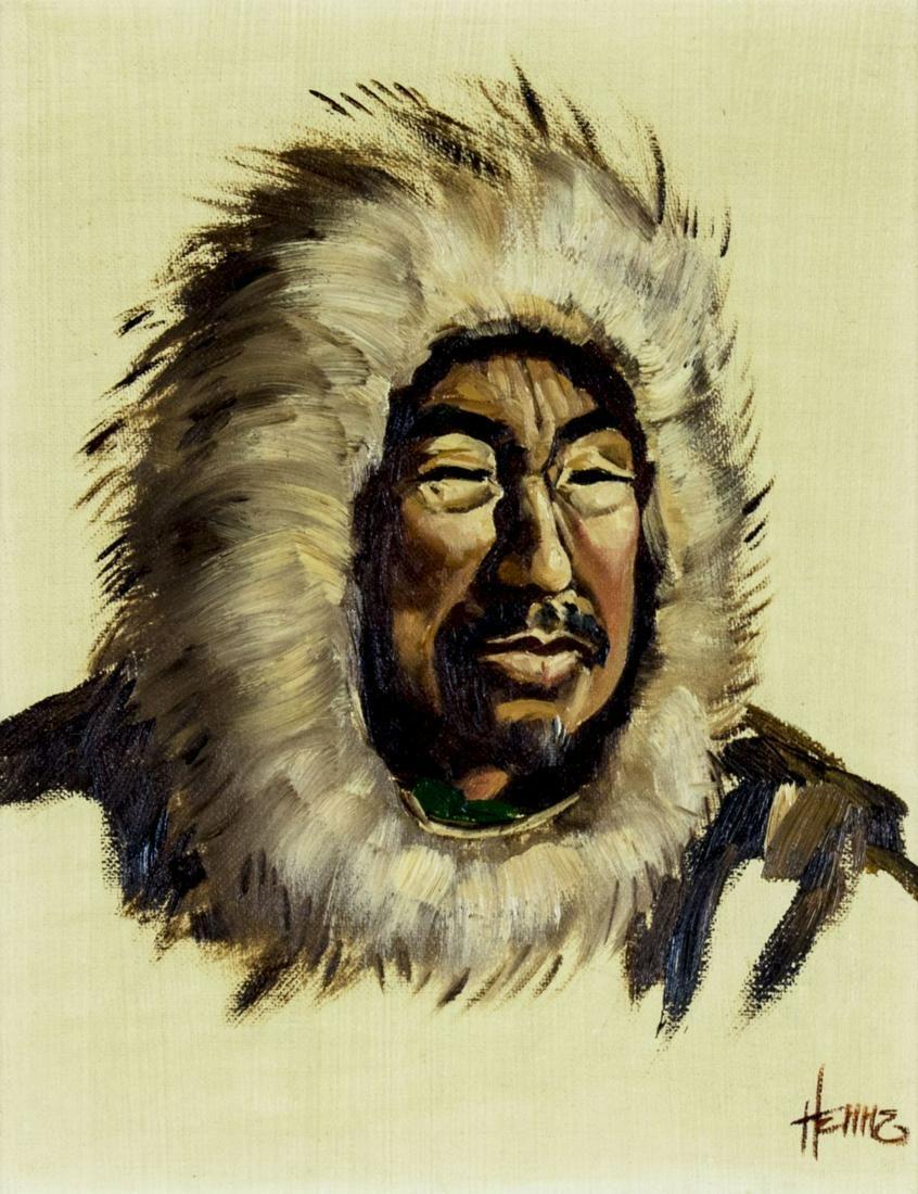Ellen Goodale (AK,1915-1991) oil painting