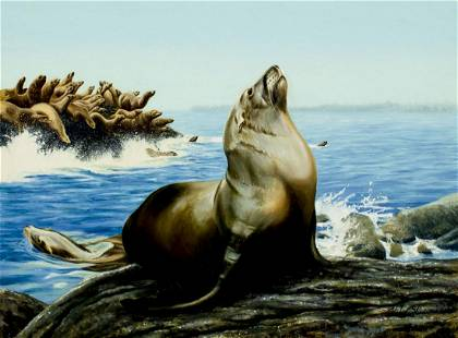Kirk Stirnweis (NH,CO,b 1967) oil painting