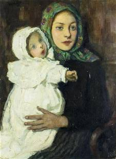 Francis Mora (NY,CT,1874-1940) oil painting