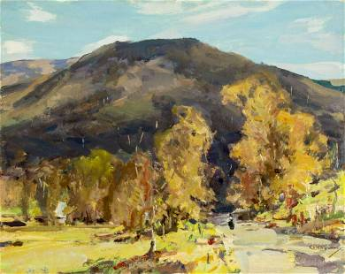Jay Connaway (ME,AZ,IN,1893-1970) oil painting