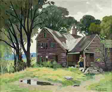 Arthur Lingquist (Sweden,MA,CT,1889-1975) oil painting