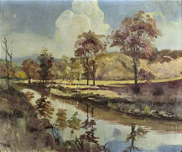 Ralph Cone (Irish,US,20C) oil painting
