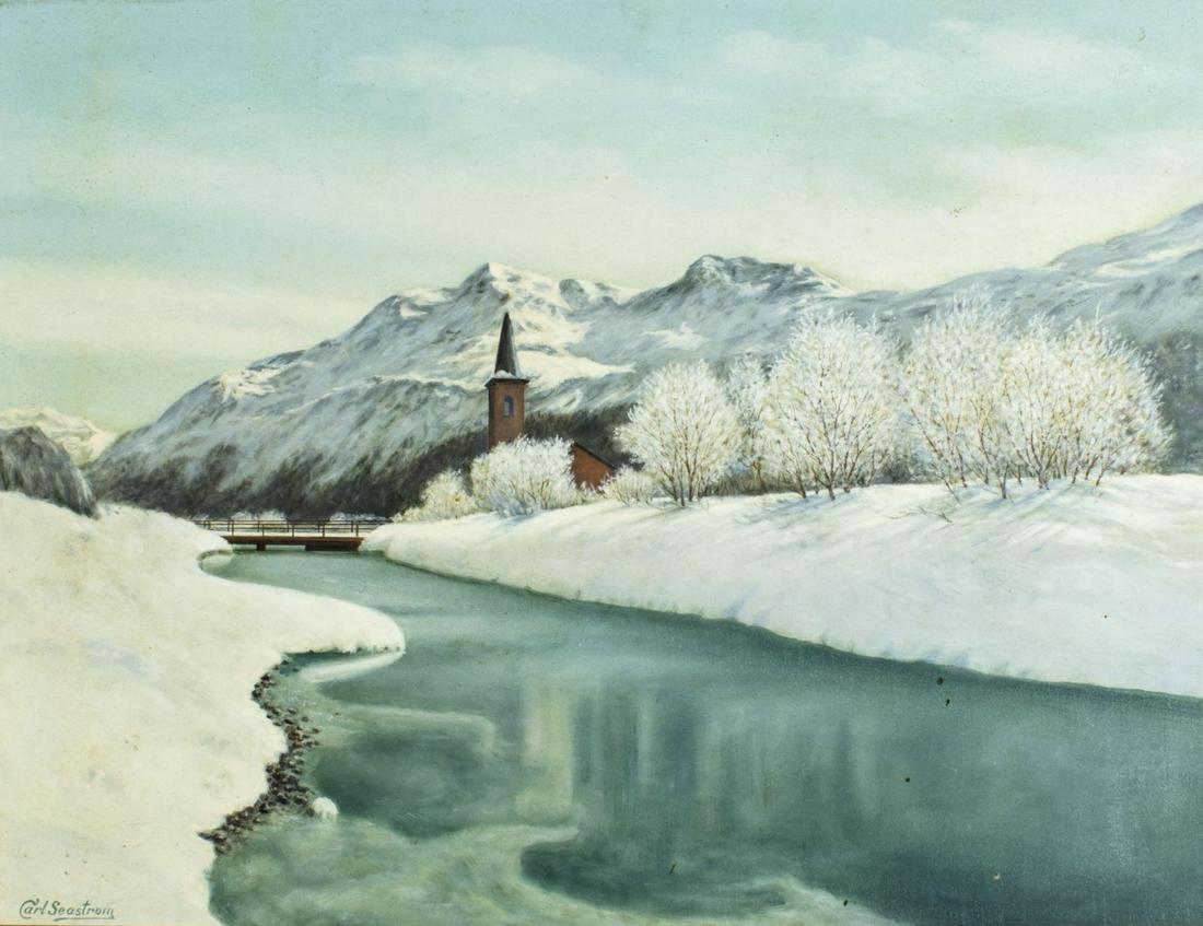 Carl Seastrom (Austria,early 20C) oil painting antique