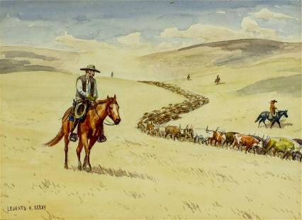 Leonard Howard Reedy (IL,1899-1956) watercolor painting