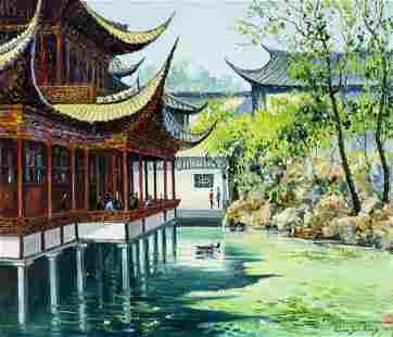 YanKang Qian (China,20C) oil painting
