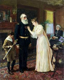 Carl Hirschberg (CT,1854-1923) oil painting antique