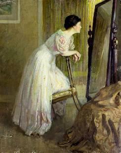 Abbott Fuller Graves (MA,ME,1859-1936) oil painting