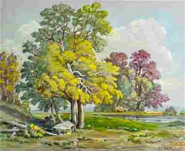 Harold Harrington Betts (IL,MI,1881-1951) oil painting