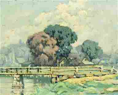 Homer Wayland Colby (ME,1874-1950) oil painting