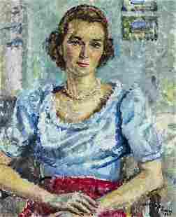 Cathleen S Mann (UK,1896-1959) oil painting
