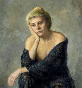 Dan Truth (CT,MI,b 1949) oil painting