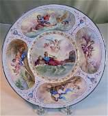 Viennese Silver & Enamel Plate, 19th C