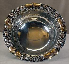 American Sterling Silver & Gold Bowl/Shiebler, 19th C