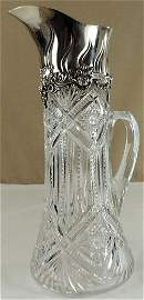Tiffany & Company Sterling Silver/Cut Crystal Pitcher