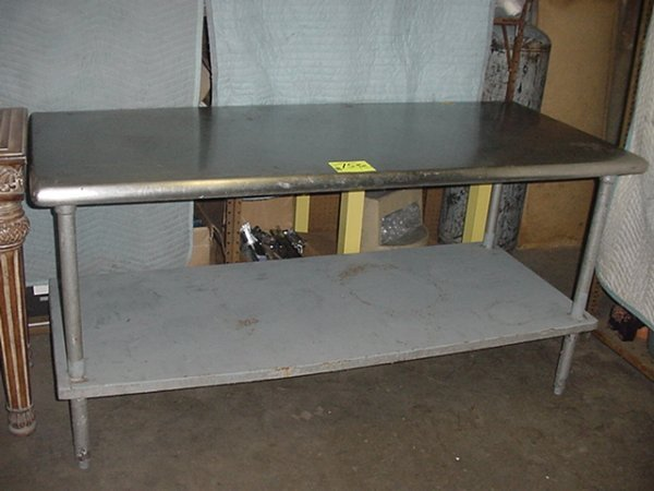 75: STAINLESS STEEL WORK TABLE